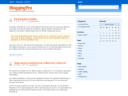 Captura de blogging pro tema para wordpress