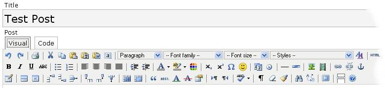 Editor avanzado para WordPress - TinyMCE