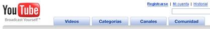 Youtube en castellano para España