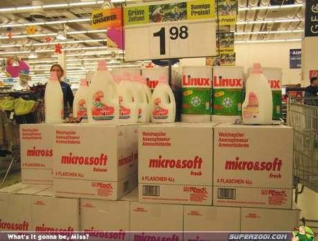 Detergente micro&soft y Linux