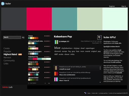 Kuler de Adobe Labs