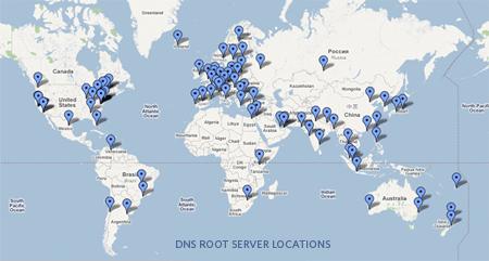 más de 130 root servers
