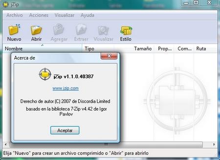 jZip, alternativa gratis a WinZip - Carrero