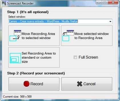Captura FreeScreenCast
