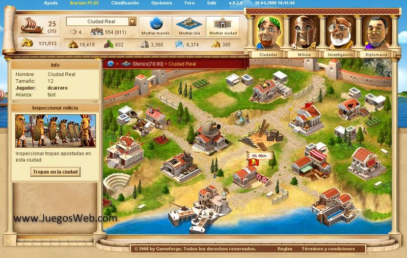 El Juego de los Dioses, juegos multijugador en web