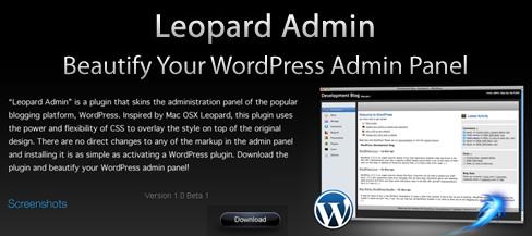 Leopard admin para WordPress