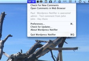 captura wordpress notifier mac