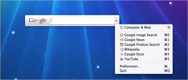 qsb: Quick Search Box de Google