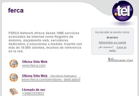 ferca.tel - dominios .tel