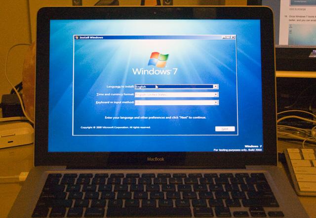 Windows 7 en un MacBook con BootCamp