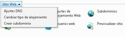 sitios web ajustes dns plesk