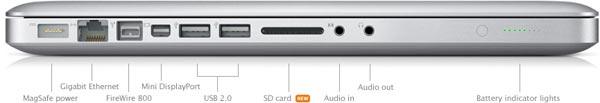 Macbook pro con lector de tarjetas SD