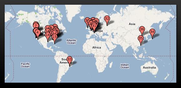 centros de datos de google por el mundo