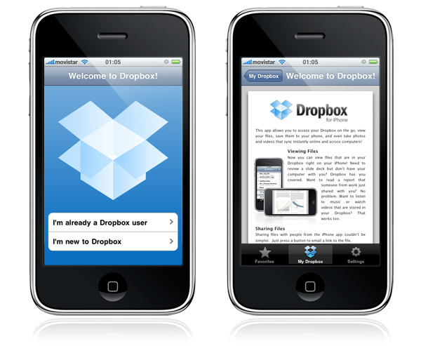 dropbox para iphone e ipod touch