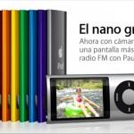 iPod nano 5G con videocámara, radio, micro y altavoz