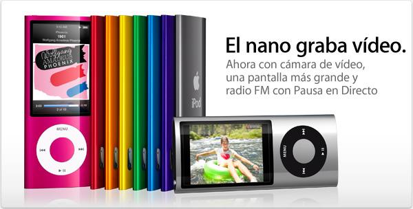 ipod nano  5g video camara y radio fm