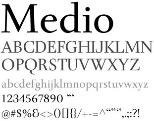 medio tipografia