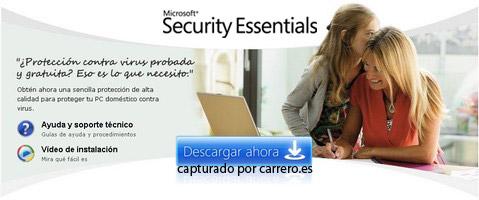 microsoft security essentials. antivirus gratis
