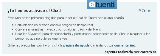 Tuenti y su chat en tiempo real