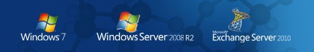 windows 7 window server 2008 exchange 2010
