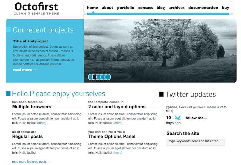 octofirst tema wordpress