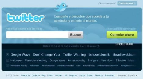 twitter en castellano