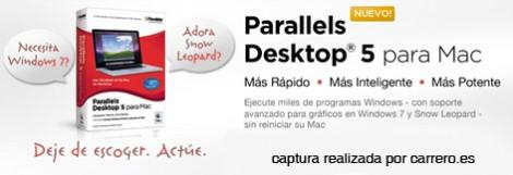 parallels desktop 5 para mac os x