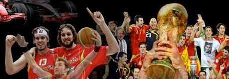 campeones del mundo de fútbol y baloncesto
