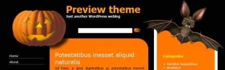 Plantilla WordPress Halloween Theme