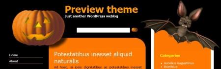 Plantilla WordPress Halloween Theme