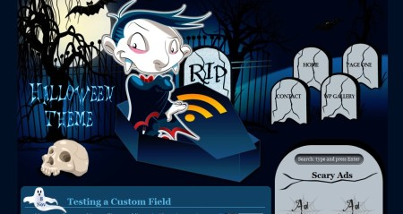 Plantilla WordPress Halloween in blue