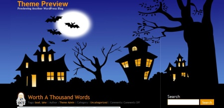 Plantilla WordPress Halloween
