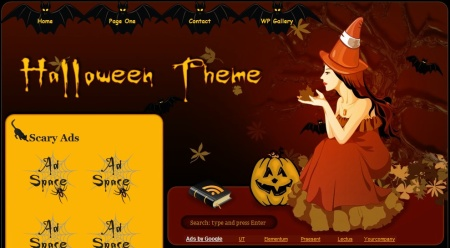 Plantilla WordPress Vee´s Halloween Theme