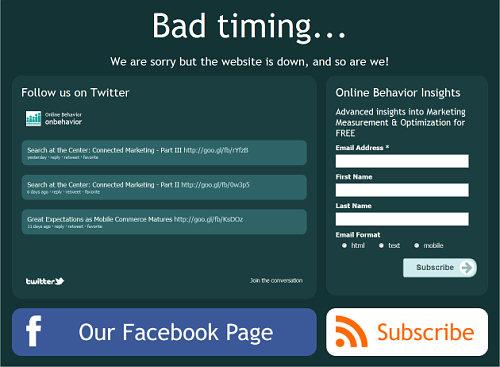 bad timing 404 pages screenshot Optimizando páginas de error: Creando oportunidades de nuestros errores