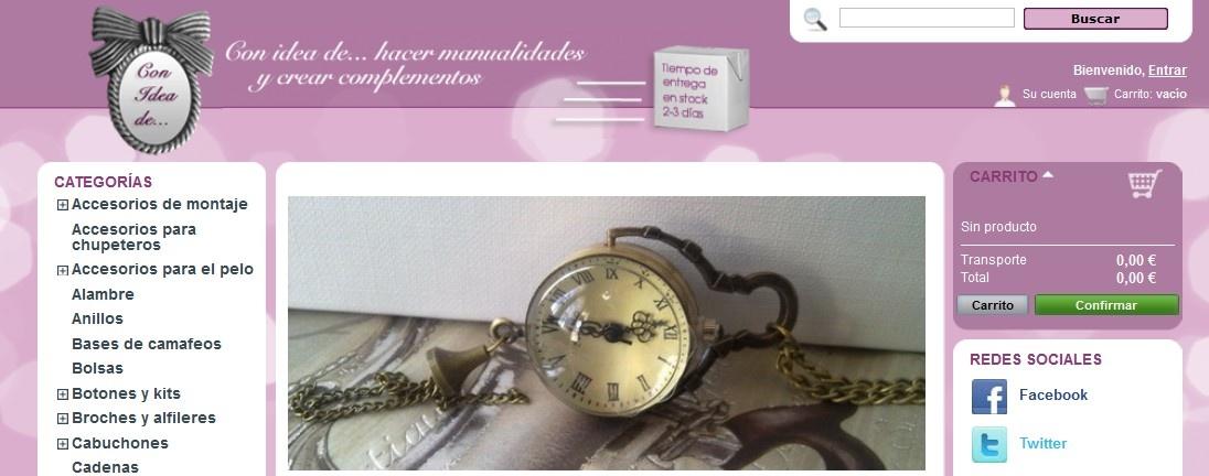 Con Idea de Tienda online de material para manualidades
