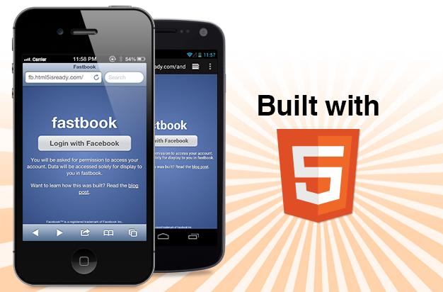 fastbook html5 facebook app