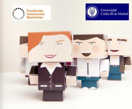 emprendedores en la universidad Carlos III con Fundación innovación bankinter