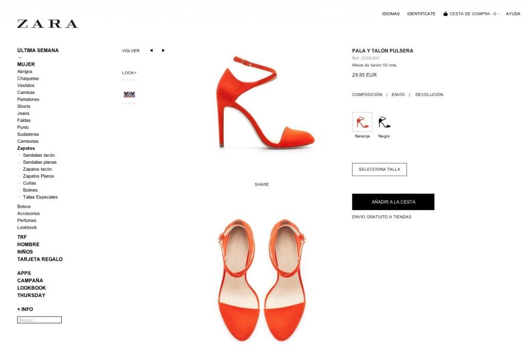 tienda online zara comprar zapatos