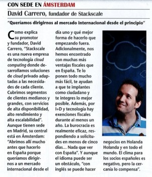 david carrero de stackscale en revista emprededores
