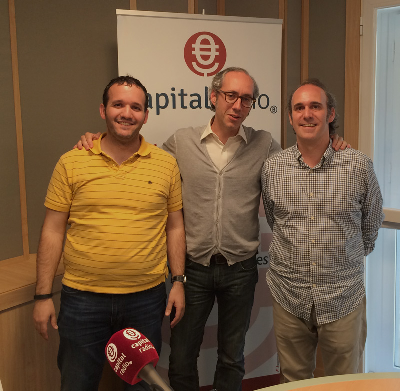 David Carrero, Eduardo Castillo y Lucas Cervera en Capital Radio B