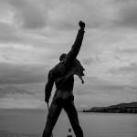 Que grande que era Freddie Mercury. Junto al lago Leman en Vevey Suiza