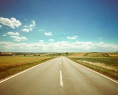 en la carretera de vacaciones
