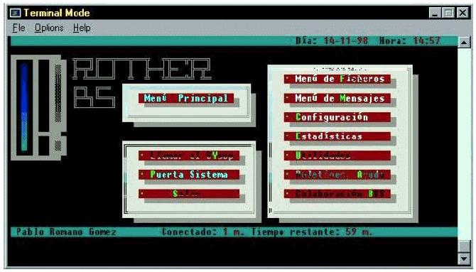 terminal de una BBS