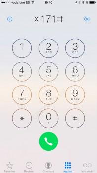 Marcando *171# para desactivar Máxima Velocidad de Vodafone