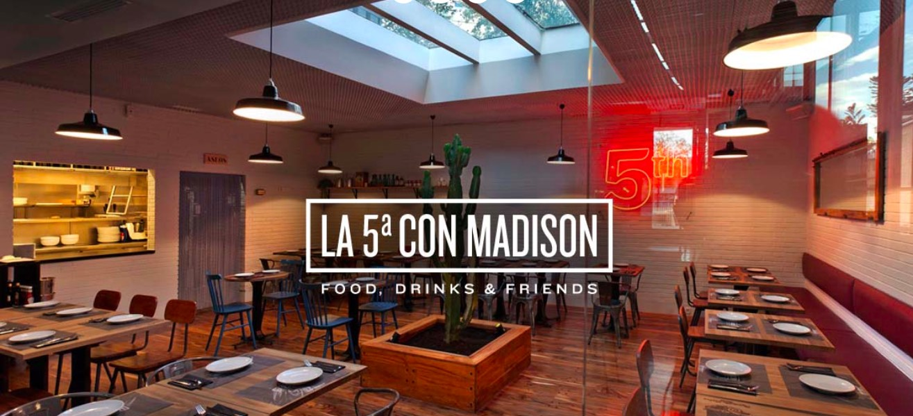 Restaurante La 5ª con Madison en Madrid