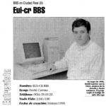 David Carrero en 1997 como cosysop de eui-cr-bbs