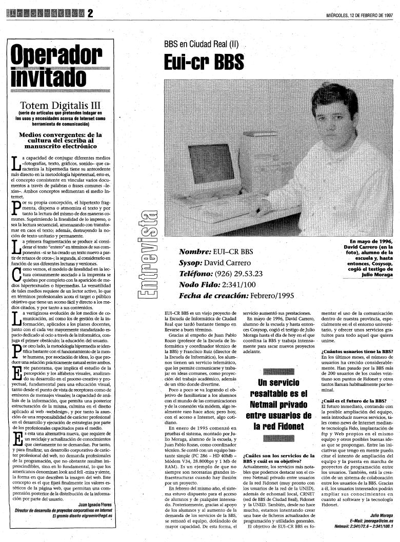 entrevista completa david carrero 1997 eui-cr-bbs