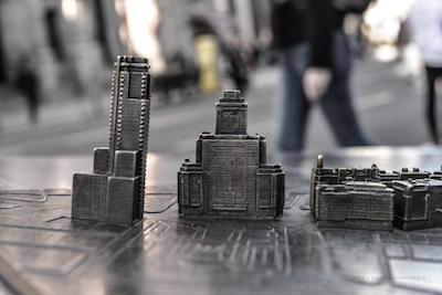 Edificio Madrid y Edificio España. Maqueta Granvia. fotografía realizada por David Carrero Fernández-Baillo