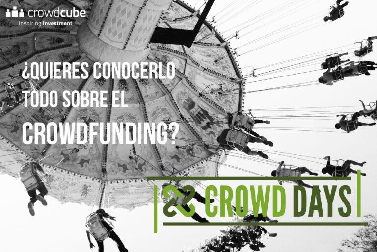 No te pierdas el evento de crowdfunding CROWDDAYS en Barcelona