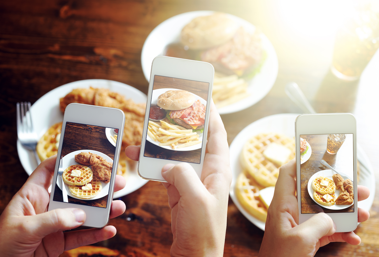 Fotografías de comida en Instagram